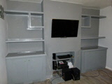 dark grey fitted designer alcove units